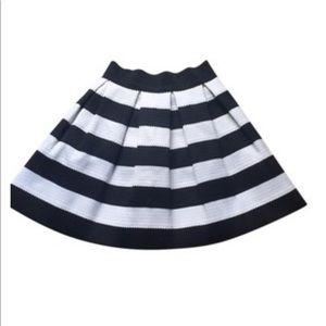 Express Black and White Stripe skirt size M